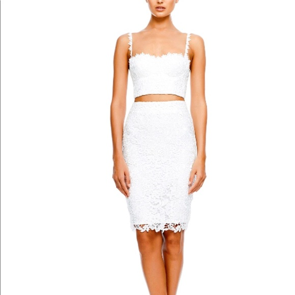 Nwt Misha Collection White Lace Set Sz Xs Nwt